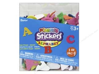 Kid Crafts ABC & 123: Darice Foamies Sticker Bucket Alphabet 5oz