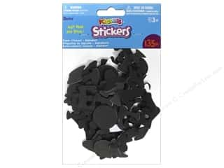 Kid Crafts ABC & 123: Darice Foamies Sticker Black Alphabet