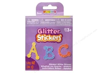 Foam ABC & 123: Darice Foamies Sticker Bucket Glitter Dot to Dot Alphabet 30gm