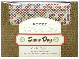 Envelopes Brown: Crate Paper Boxed Cards & Envelopes Snow Day