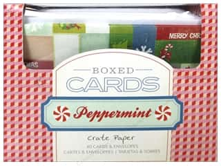 Note Cards Christmas: Crate Paper Boxed Cards & Envelopes Peppermint
