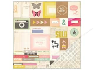 Crate Paper Designer Papers & Cardstock: Crate Paper 12 x 12 in. Paper Notes & Things Memo (25 pieces)