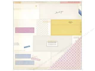 Crate Paper Designer Papers & Cardstock: Crate Paper 12 x 12 in. Paper Notes & Things Enclosed (25 pieces)