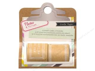 Crate Paper $16 - $24: Crate Paper Notes & Things Collection Sticker Labels Kraft