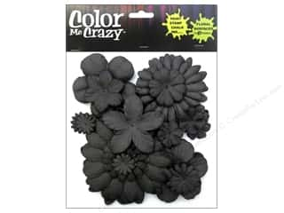 Petaloo Chipboard Embellishments: Petaloo Color Me Crazy Chalkboard Assorted Flower Layers