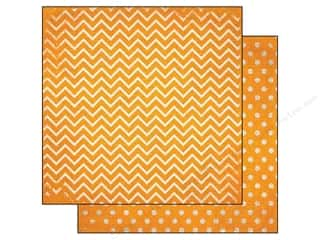Bo Bunny 12 x 12 in. Paper Double Dot Chevron Buttercup (25 piece)