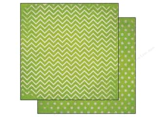 Bo Bunny 12 x 12 in. Paper Double Dot Chevron Kiwi (25 piece)