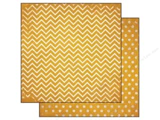 Bo Bunny 12 x 12 in. Paper Double Dot Chevron Maize (25 piece)