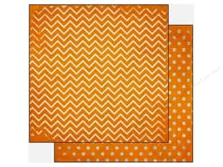 Bo Bunny 12 x 12 in. Paper Double Dot Chevron Orange Citrus (25 piece)