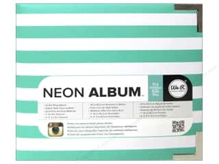 "Labels Sale: We R Memory Album 4""x 4"" Instagram Neon Teal"