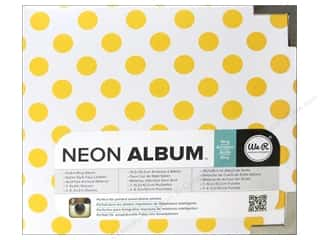 "Labels Sale: We R Memory Album 4""x 4"" Instagram Neon Yellow"
