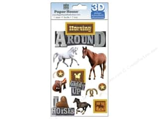 3D Stickers: Paper House Sticker 3D Horsing Around