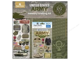 Careers & Professions Crafting Kits: Paper House Paper Kit United States Army