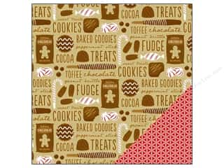 Christmas Brown: American Crafts 12 x 12 in. Paper Be Merry Sweets & Treats (25 pieces)