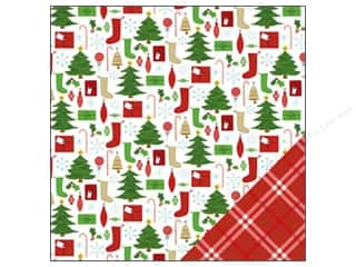 Bells Red: American Crafts 12 x 12 in. Paper Be Merry Stockings (25 pieces)