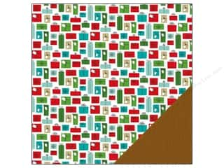 Christmas Brown: American Crafts 12 x 12 in. Paper Be Merry Presents (25 pieces)