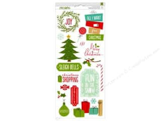 American Crafts Stickers Be Merry Accent & Phrase