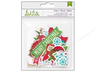 Shape Cuts: American Crafts Die Cut Shapes Be Merry Cookies