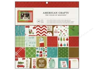 Scrapbooking & Paper Crafts Christmas: American Crafts Paper Pad 12 x 12 in. Be Merry