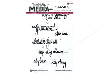 Magic Stamp: Ranger Stamp Dina Wakley Media Cling Handwritten Quotes