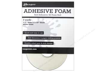 "Paper Pieces Glue and Adhesives: Ranger Essentials Adhesive Foam Roll 1/2"" White 2yd"