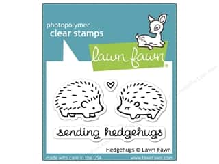 Father's Day Rubber Stamping: Lawn Fawn Clear Stamp Hedgehugs