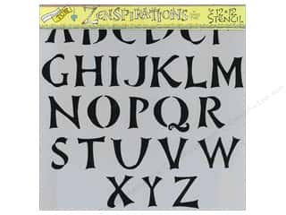 "Crafter's Workshop, The ABC & 123: The Crafters Workshop Stencil 12""x 12"" Zenspirations Brush Alphabet"
