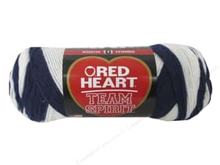 C&C Red Heart Team Spirit Yarn 5oz Navy/White