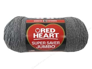 Heart In Hand: Coats & Clark Red Heart Super Saver Jumbo Yarn 10oz Grey Heather