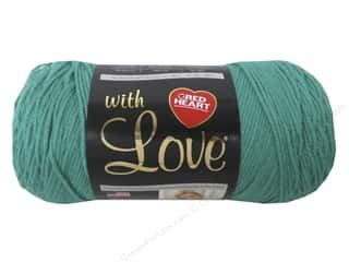 C&C Red Heart With Love Yarn 7oz 370yd Jadeite