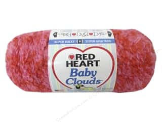 Clearance Red Heart Baby Clouds Yarn: Red Heart Baby Clouds Yarn #9701 Pink Punch 140 yd.