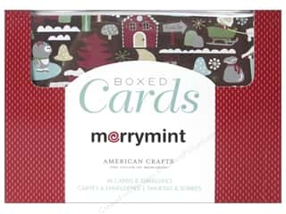 American Crafts 10 Yards: American Crafts Cards & Envelopes 40 pc. Merrymint
