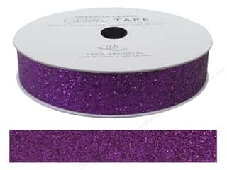 Glues, Adhesives & Tapes Glitter: American Crafts Glitter Tape 5/8 in. Grape