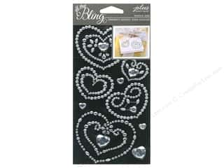 Wedding $3 - $4: EK Jolee's Boutique Bling Gems Wedding Heart Clear