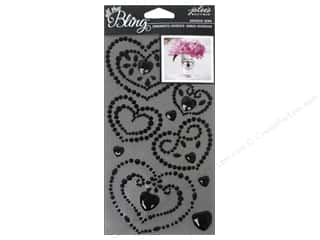 EK Jolee's Boutique Bling Gems Wed Heart Black