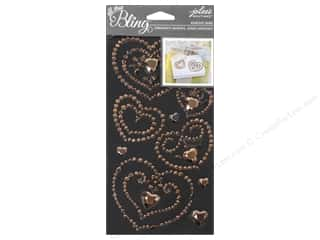 Metal Wedding: EK Jolee's Boutique Bling Gems Wedding Heart Rose Gold