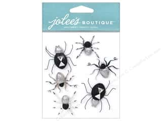 Metal Black: EK Jolee's Boutique Spiders Black & White Metallic