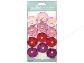 EK Jolee's Boutique Repeat Paper Flowers Pink/Red