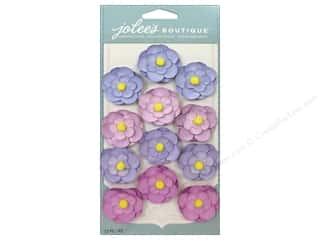 Flowers paper dimensions: EK Jolee's Boutique Repeat Paper Flowers Purple