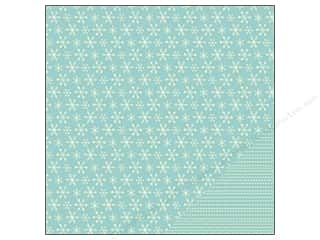 "Pebbles Inc Christmas: Pebbles Home For Christmas Collection Paper 12""x 12"" Snow Flurries (25 pieces)"