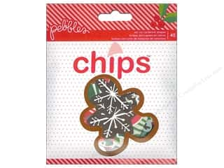 Shape Cuts: Pebbles Home For Christmas Collection Die Cut Shapes Chips