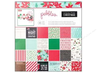 "Christmas Black: Pebbles Home For Christmas Collection Paper Pad 12""x 12"""