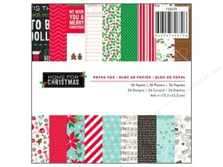 "Pebbles Inc Note Cards: Pebbles Home For Christmas Collection Paper Pad 6""x 6"""