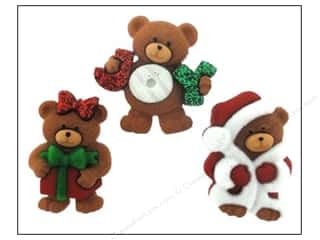 Jesse James Buttons Novelty Buttons: Jesse James Embellishments A Beary Merry Christmas
