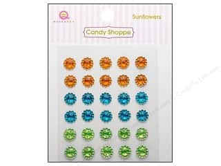 theme stickers  summer: Queen&Co Sticker Candy Shoppe Sunflowers Gem Summer