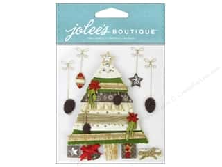 Felt paper dimensions: EK Jolee's Boutique Holiday Tree and Gifts