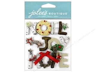 Joy paper dimensions: EK Jolee's Boutique Holiday Words