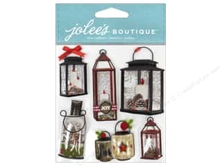 Felt paper dimensions: EK Jolee's Boutique Holiday Lanterns & Holly