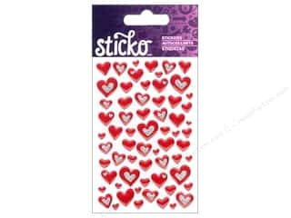 EK Sticko Stickers Epoxy Mini Hearts Red