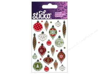 Christmas Burgundy: EK Sticko Stickers Epoxy Mini Christmas Ornaments